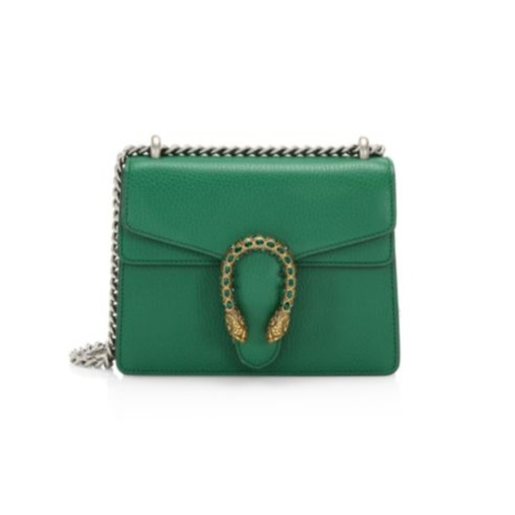 Gucci Handbags - Gucci Mini Dionysus Leather Shoulder Bag
